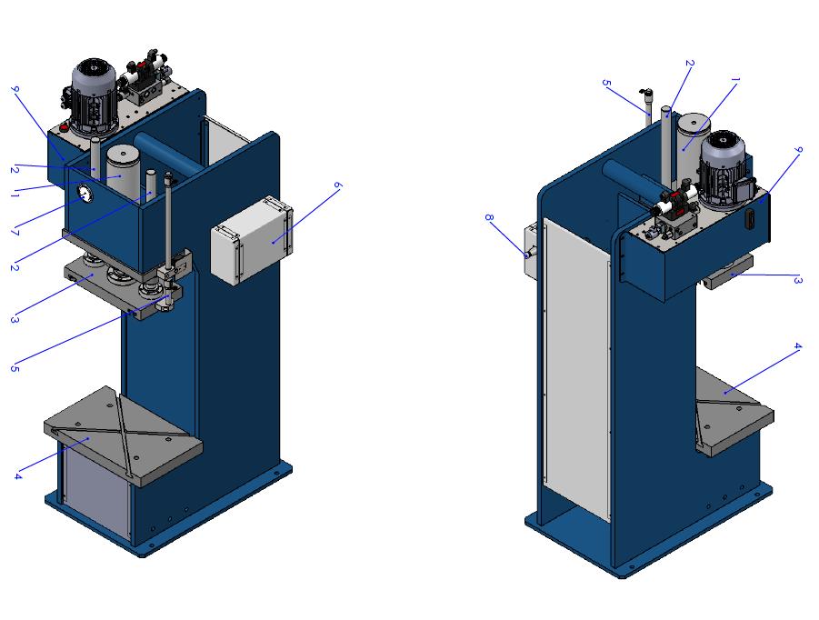 Custom-made C-frame press