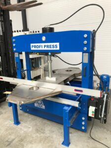 Testing large portal press