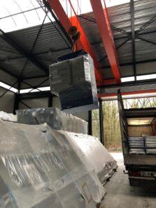 Loading C-frame press