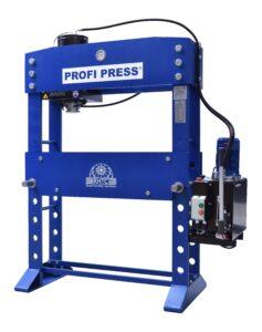 workshop press with movable cylinder