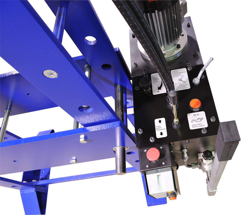 Hydraulic unit of our workshop presses
