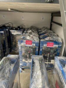 30 Ton Hydraulic Presses in RHTC Warehouse